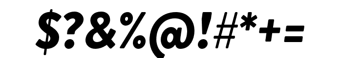 Brandon Grotesque Black Italic Font OTHER CHARS