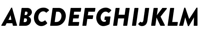 Brandon Grotesque Black Italic Font UPPERCASE