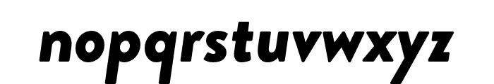Brandon Grotesque Black Italic Font LOWERCASE