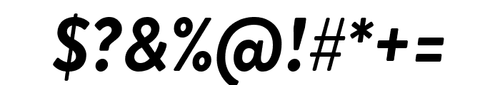 Brandon Grotesque Bold Italic Font OTHER CHARS