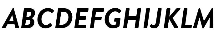Brandon Grotesque Bold Italic Font UPPERCASE