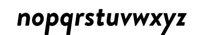 Brandon Grotesque Bold Italic Font LOWERCASE