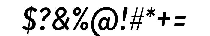 Brandon Grotesque Medium Italic Font OTHER CHARS