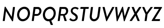 Brandon Grotesque Medium Italic Font UPPERCASE