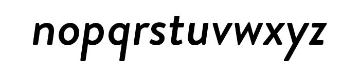 Brandon Grotesque Medium Italic Font LOWERCASE