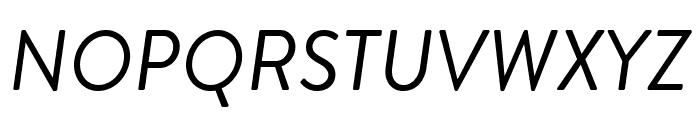 Brandon Grotesque Regular Italic Font UPPERCASE