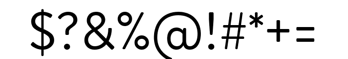 Brandon Grotesque Regular Font OTHER CHARS