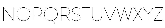 Brandon Grotesque Thin Font UPPERCASE