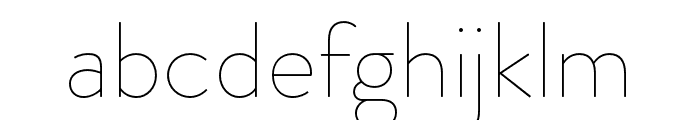 Brandon Grotesque Thin Font LOWERCASE