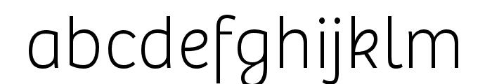 Bree Light Oblique Font LOWERCASE