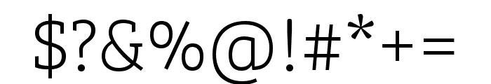 Bree Serif Light Italic Font OTHER CHARS