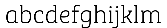 Bree Serif Light Italic Font LOWERCASE