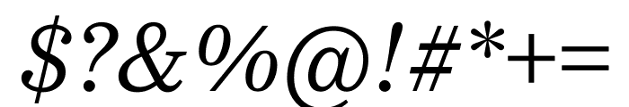 Bressay Display Italic Font OTHER CHARS