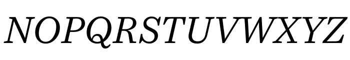 Bressay Display Italic Font UPPERCASE