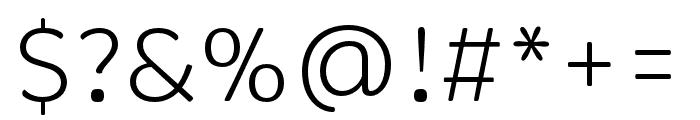 Brevia Light Italic Font OTHER CHARS