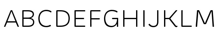 Brevia Light Italic Font UPPERCASE