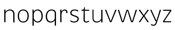 Brevia Light Italic Font LOWERCASE