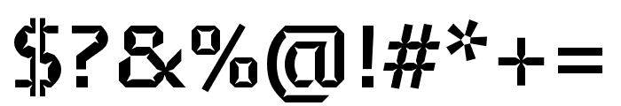 Brevier Bold Font OTHER CHARS