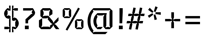 Brevier Medium Font OTHER CHARS