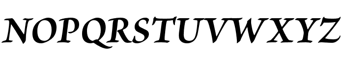 Brioso Pro Bold Italic Caption Font UPPERCASE
