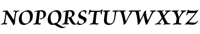 Brioso Pro Bold Italic Subhead Font UPPERCASE