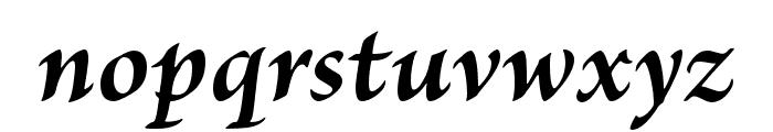 Brioso Pro Bold Italic Subhead Font LOWERCASE