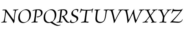 Brioso Pro Italic Caption Font UPPERCASE