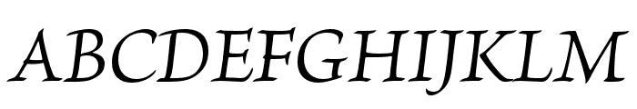 Brioso Pro Italic Subhead Font UPPERCASE