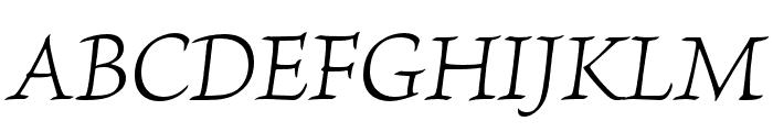 Brioso Pro Light Italic Display Font UPPERCASE