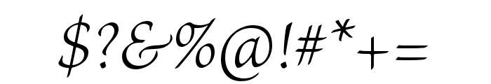 Brioso Pro Light Italic Font OTHER CHARS