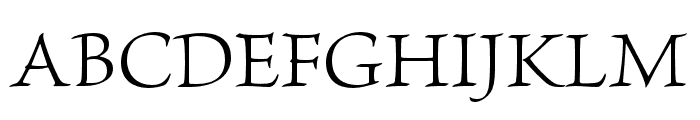 Brioso Pro Light Subhead Font UPPERCASE