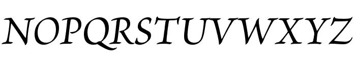 Brioso Pro Medium Italic Subhead Font UPPERCASE