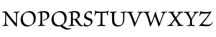 Brioso Pro Medium Subhead Font UPPERCASE