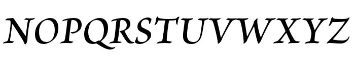 Brioso Pro Semibold Italic Subhead Font UPPERCASE