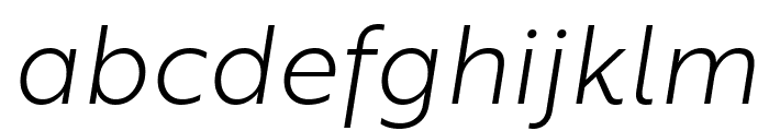 Brother 1816 Light Italic Font LOWERCASE