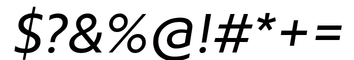 Brother 1816 Regular Italic Font OTHER CHARS
