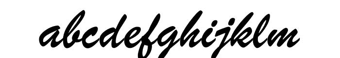 Brush ATF Regular Font LOWERCASE
