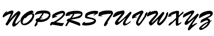 Brush Script Std Medium Font UPPERCASE