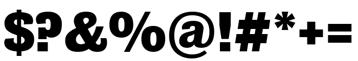 Bureau Grot Bold Font OTHER CHARS
