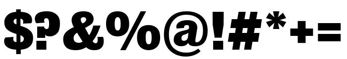 Bureau Grot Compressed Bold Font OTHER CHARS