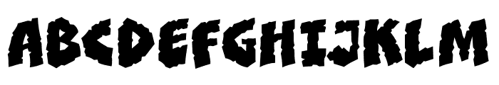 CCClobberinTimeSmooth Regular Font UPPERCASE