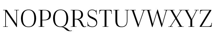 Cabrito Didone Cond Book Font UPPERCASE