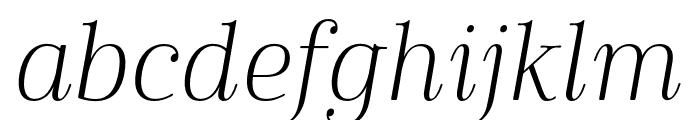 Cabrito Didone Cond Light It Font LOWERCASE