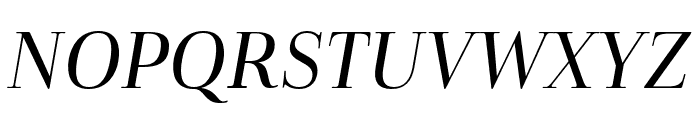 Cabrito Didone Cond Medium It Font UPPERCASE