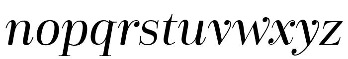 Cabrito Didone Cond Medium It Font LOWERCASE