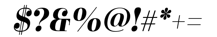 Cabrito Didone Ext Bold It Font OTHER CHARS