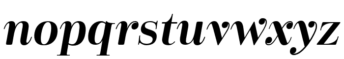 Cabrito Didone Ext Bold It Font LOWERCASE