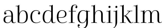 Cabrito Didone Ext Book Font LOWERCASE