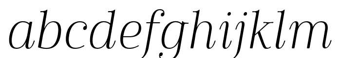 Cabrito Didone Norm Light It Font LOWERCASE