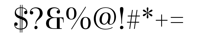 Cabrito Didone Norm Regular Font OTHER CHARS